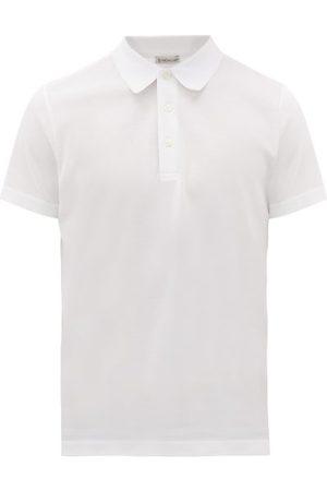 Moncler Logo-stitched Cotton-piqué Polo Shirt - Mens