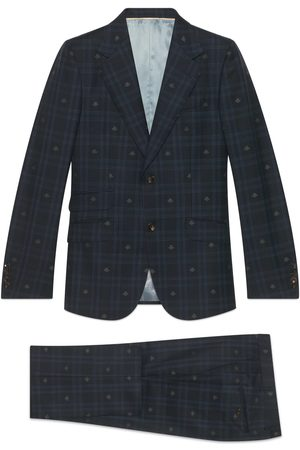 Gucci Men Suits - Heritage bee check wool suit