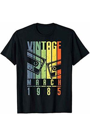 Vintage 35th Birthday Shirt 1985 Vintage Tshirt March 1985 T-Shirt Retro Vintage 35th Birthday Gifts T-Shirt