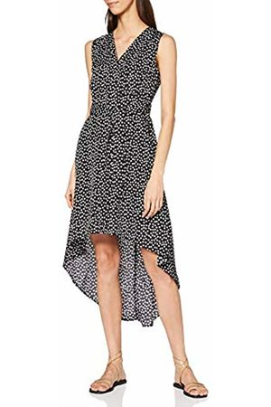 Mela Women's Daisy Dot Wrap Front High Low Dress Casual