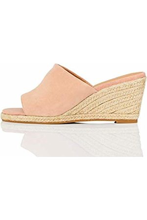FIND Amazon Brand - Mule Leather Espadrille Wedge Sandal
