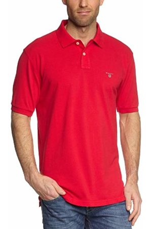 GANT Men's Solid Pique Ss Rugger Regular Fit Short Sleeve Polo Shirt