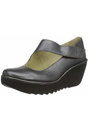 Fly London Women's YASI682FLY Wedge Shoes, (Graphite 047)