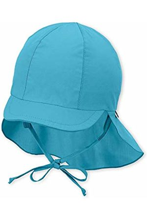 Sterntaler Baby Girls' Sun hat with Neck Protection Turquoise (Türkis 435)