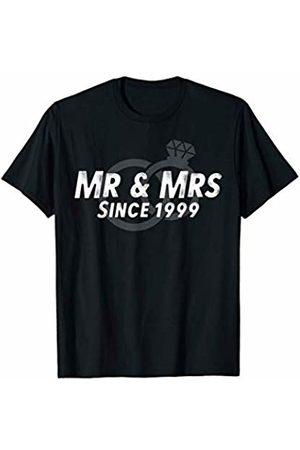 Wowsome! Mr & Mrs Since 1999 - 21st Wedding Anniversary Matching Gift T-Shirt
