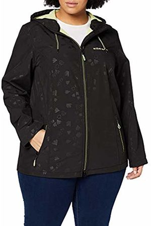 Ulla Popken Women's Softshelljacke Blumen Fleece Jacket