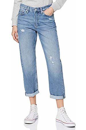 Calvin Klein Women's CKJ 061 Rise BOY Straight Jeans, DA073 MID DSTR 1A4