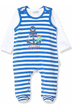 Salt & Pepper Baby Boys' Gestreift Mit Anker Druck Footies, (Strong 483)