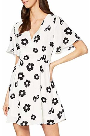 Mela Women's Daisy Flower Bell Sleeve Skater Dress Casual