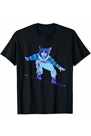 Snowboarding Sports Tzz Cat Snowboarder Skiing Sports Outdoors Adventure Slopes Snow T-Shirt