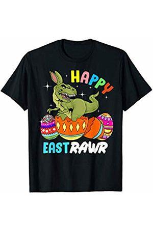 Wowsome! Happy East Rawr Bunny Dinosaur T Rex Easter Gift T-Shirt