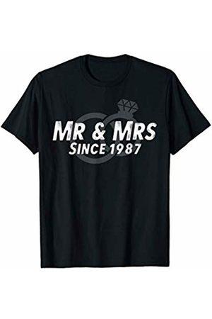 Wowsome! Mr & Mrs Since 1987 - 33rd Wedding Anniversary Matching Gift T-Shirt