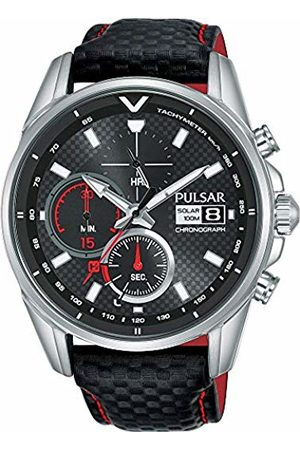 Pulsar Active Mens Analogue Quartz Watch with Leather Bracelet PZ6029X1