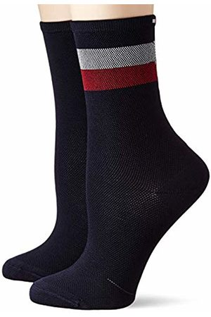 Tommy Hilfiger Th Women Sock 2p Collegiate Mesh Calf (Midnight 014)