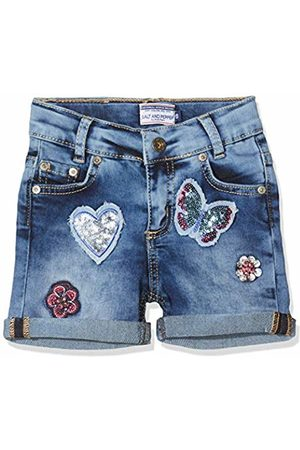 Salt & Pepper Salt and Pepper Girls' Shorts mit Schmetterlingsstickerei und Pailletten Jeans