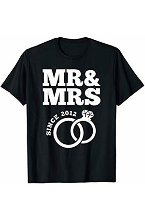 Wowsome! Mr & Mrs Since 2012 - 8th Wedding Anniversary Matching Gift T-Shirt