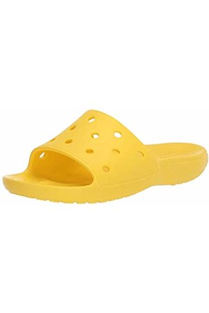 Crocs Unisex Adult's Classic Slide Open Toe Sandals, (Lemon 7c1)