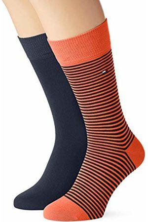 Tommy Hilfiger Men's Th Small Stripe Sock 2p Calf