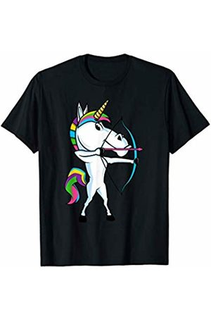 Fantasy Athletic Rainbow Creature Gift For Kids Funny Unicorn Sports Archery Bow And Arrow Magical Archer T-Shirt