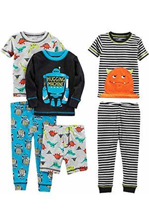 Simple Joys by Carter's 6-piece Snug Fit Cotton Pajama Set Monster/Dino