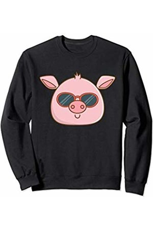 Pig Gifts Co. Baby Pig With Sunglasses Funny Gift Cool Pig Wearing Glasses Sweatshirt