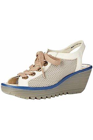 Fly London Women's YOLI191FLY Open Toe Sandals, (Greige/Offwhite/ 002)
