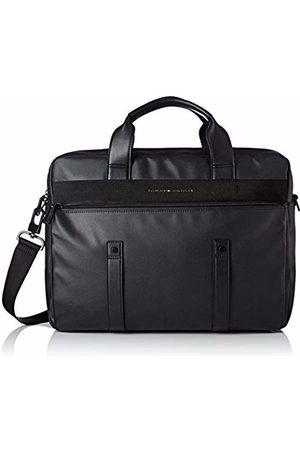Tommy Hilfiger Th Coated Computer Bag, Men's Noir