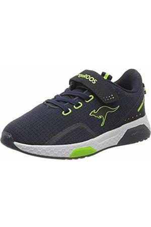 KangaROOS Unisex Kids' Kadee Lite Ev Low-Top Sneakers, (Dk Navy/Lime 4054)