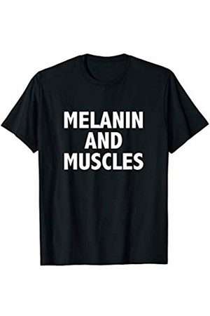 Melanin and Muscle Co. Melanin and Muscle | Black Pride Fitness T-Shirt