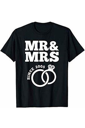 Wowsome! Mr & Mrs Since 2005 - 15th Wedding Anniversary Matching Gift T-Shirt