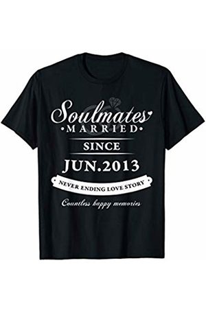 Wowsome! Married Since June 2013 - 7th Wedding Anniversary Gift T-Shirt