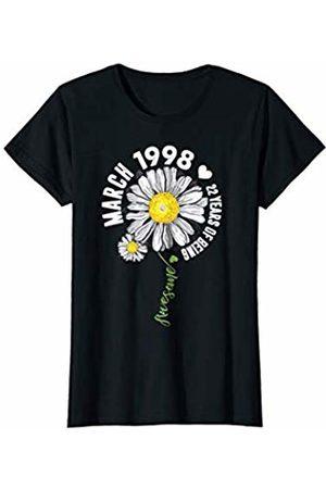 Vintage 22nd Birthday Shirt 1998 Birthday Gift Womens March Girl 1998 22 Birthday 22 Years Old Sunshine T-Shirt