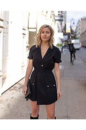The Drop Women's Short-Sleeve Asymmetric Front Utility Dress by @laurie_ferraro