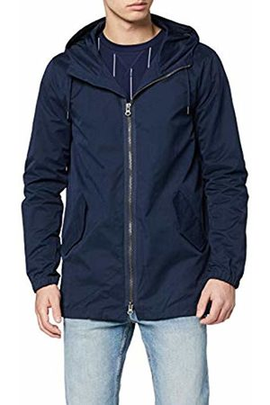 FIND Men's Parka with Lightweight Drawstring Hood, Long Sleeves and Regular Fit