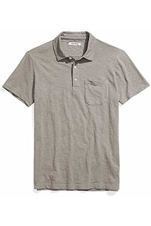 Goodthreads Mens Short-sleeve Slub Polo Short Sleeve Polo Shirt - gray