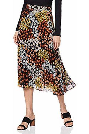 warehouse Women's Cutabout Daisy Print Pleated Midi Skirt