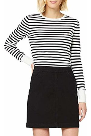warehouse Women's Breton Button Detail Jumper, Navy/