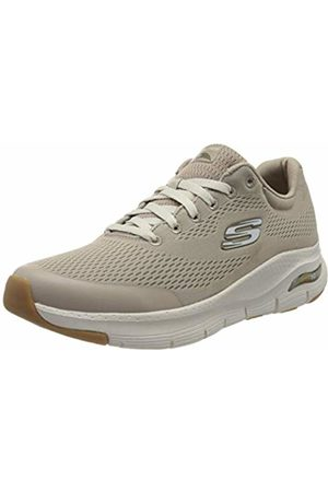 Skechers Men's Arch FIT Trainers, (Taupe Textile/Synthetic/Trim TPE)