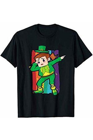 Wowsome! Dabbing Leprechaun Girl St Patricks Day Kids Women Gifts Dab T-Shirt
