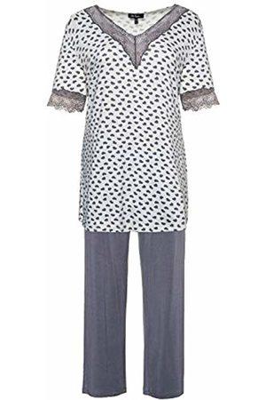 Ulla Popken Women's Große Größen Pyjama, Herzen Pajama Set