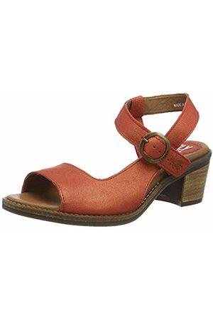 Fly London Women's ZORA583FLY Ankle Strap Heel Sandals, (Devil 004)