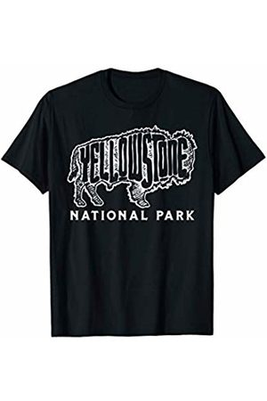 Retro Robot Yellowstone Threads Yellowstone Sketched Bison Lettering & Typography Minimalist T-Shirt
