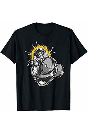 Bodybuilding Weight Training Monkey Bicep Curl Des Bodybuilding Weight Training Monkey Bicep Curl T-Shirt