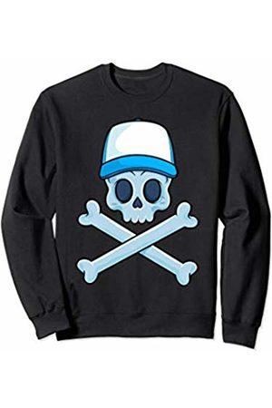Jolly Roger Pirate Gift Store Jolly Roger Pirate Skull Crossbones Boy Skeleton Bones Boys Sweatshirt