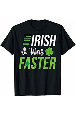 Best St. Patrick's Day Apparel and Gifts Irish I Was Faster - Runners St. Patricks Day Running Gift T-Shirt