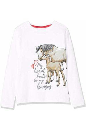 Salt & Pepper Salt and Pepper Girls' Pferde mit Glitzerdruck Longsleeve T-Shirt