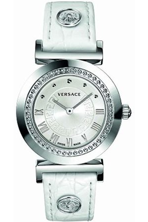 VERSACE Vanity Unisex Quartz Watch with Dial Analogue Display and Leather Strap P5Q99D001 S001