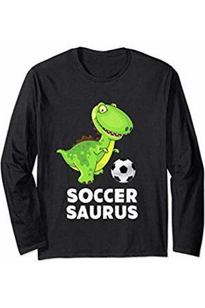 Soccersaurus Soccer Dinosaur Creations Tees Soccersaurus Soccer Dinosaur TRex Kids Boys Girls Funny Gift Long Sleeve T-Shirt
