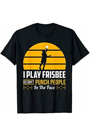 Extreme Good Sports Apparel Funny Frisbee Disc Golf Team Don't Punch People In the Face T-Shirt