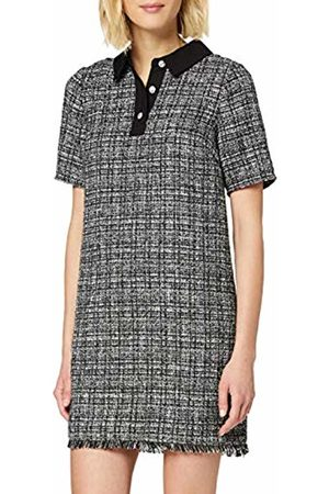 warehouse Women's & Ivory Tweed Dress Casual